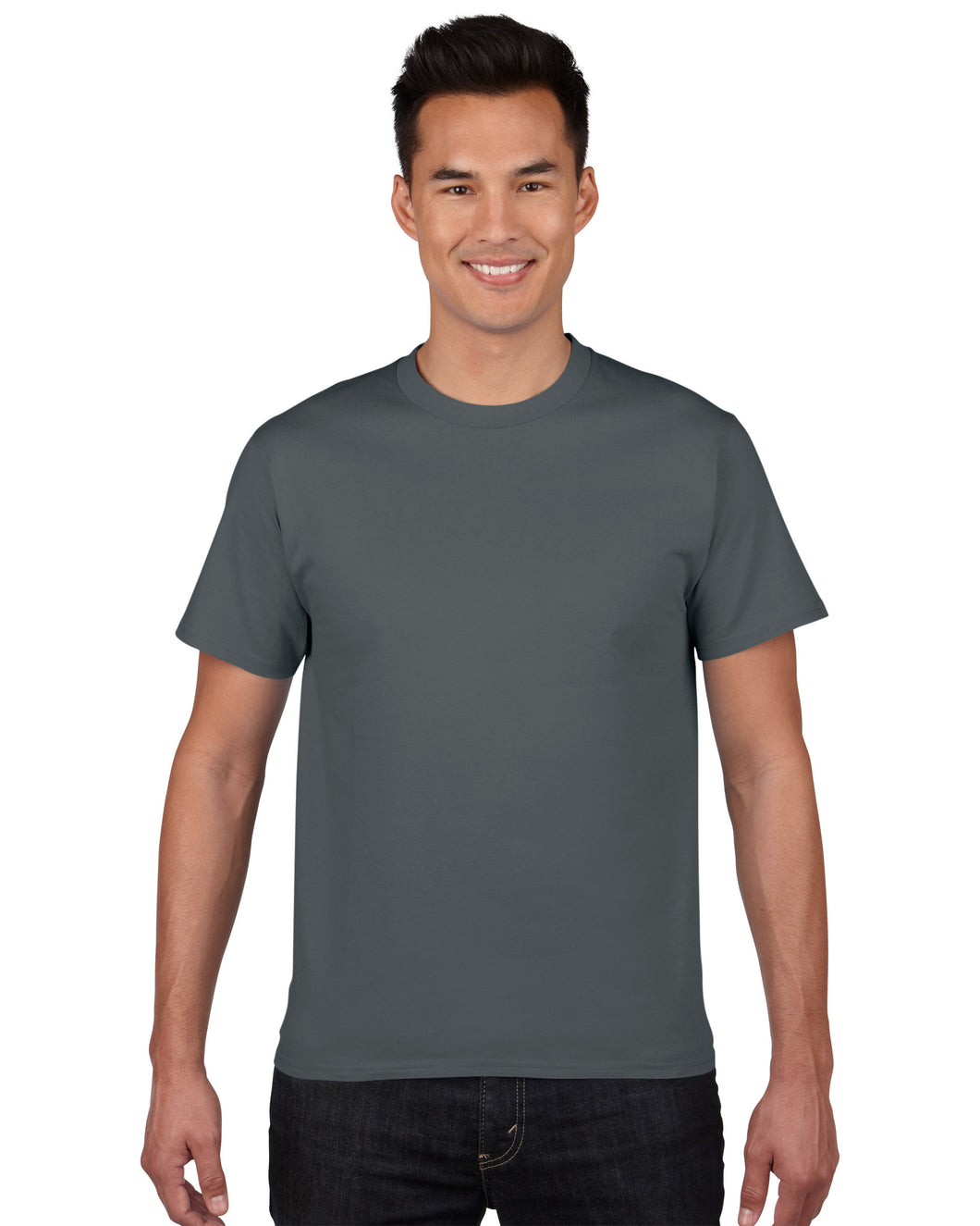 Classic round neck t-shirt in Ash