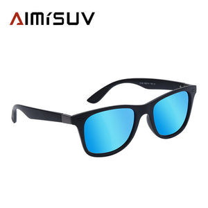 AMISUV Polarized Sunglasses Men with Rivet Square Frame