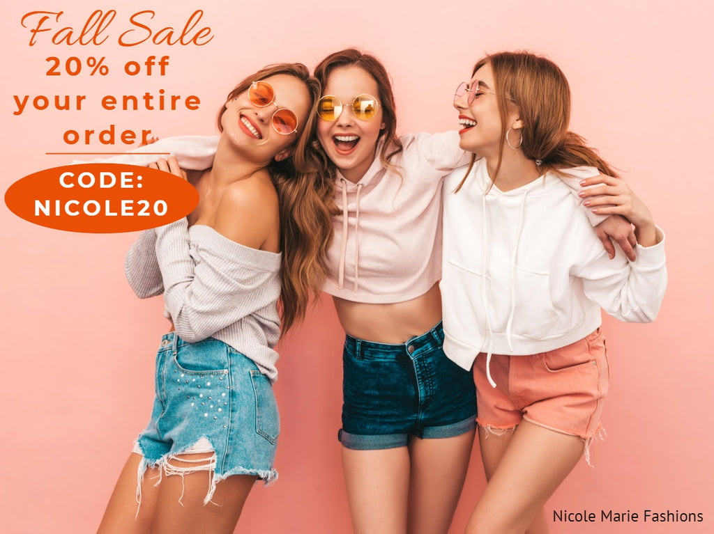 20% Off Your Entire Order!  Nicole Marie Fashions