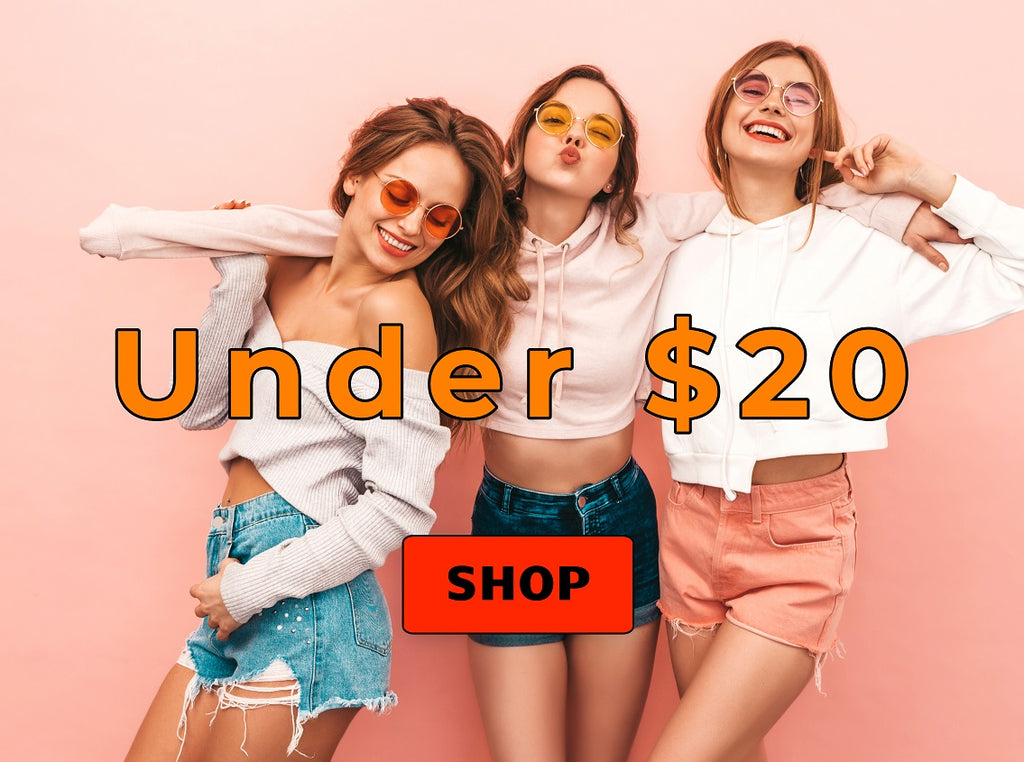 Shop for everything under $20 on Nicole Marie Fashions.  That's a lot of stuff!  Womens tops, shorts, pants, dresses, swimwear, jeans, t-shirts, and much more.