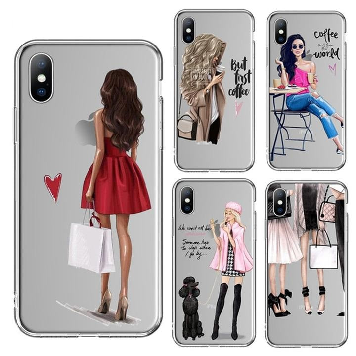 Beautiful Girl Pattern Cover/Case For iPhone X and iPhone 11 and more!