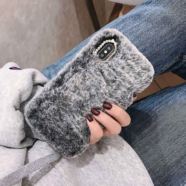 Faux Fur Cover Case For iPhone X and iPhone 11 and more!