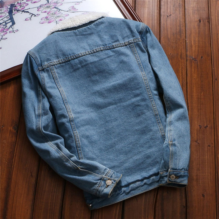 Denim Jacket With Fleece Lining