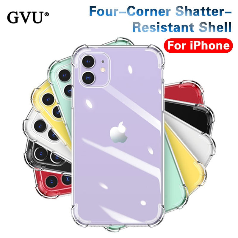 Shockproof Silicone Cover Case For iPhone X and iPhone 11 and more!