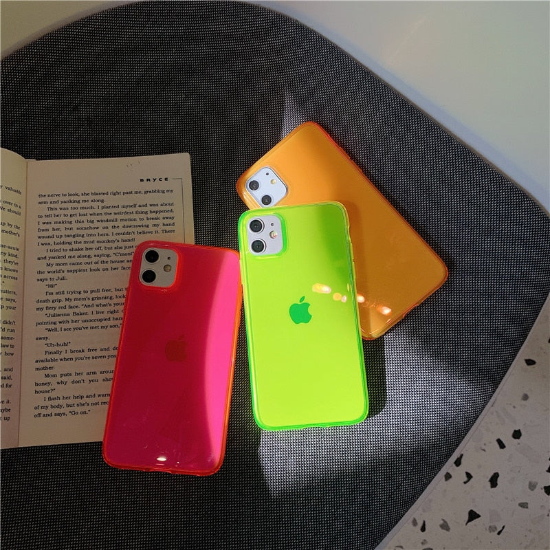 Fluorescent Soft Cover Case For iPhone X and iPhone 11 and more!