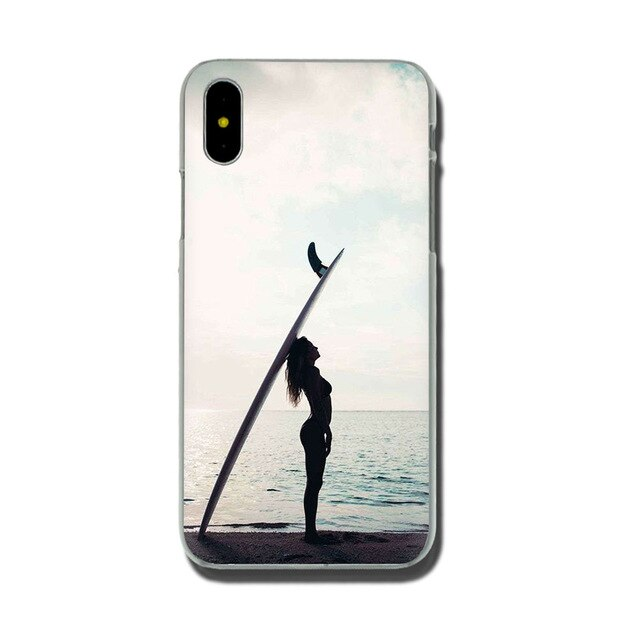 Summer Surfing Hard Cover Case For iPhone X and iPhone 11 and more!