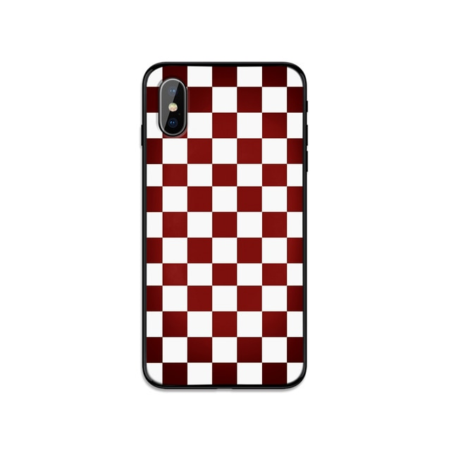 Plaid Checkerboard Grid Phone Cover Case For iPhone X and iPhone 11 and more!