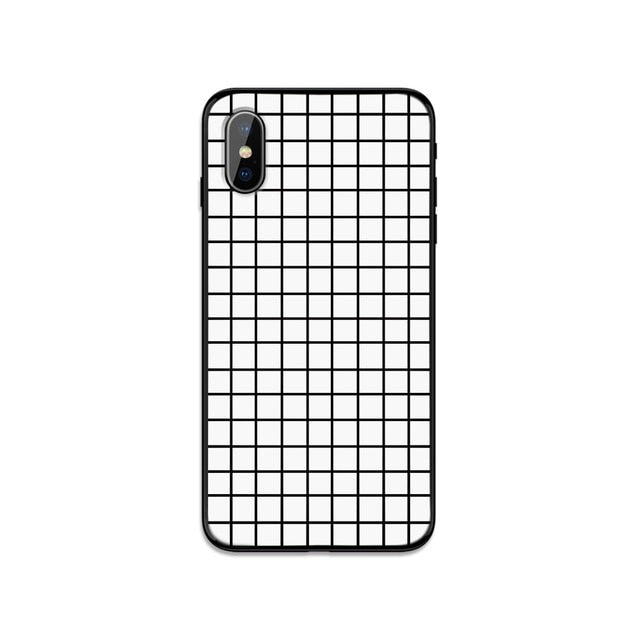 Plaid Checkerboard Grid Phone Case For iPhone X and iPhone 11 and more!