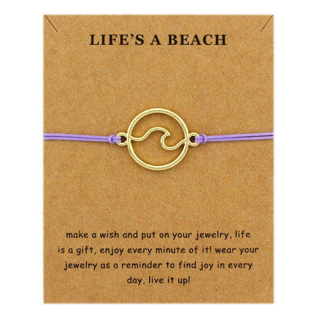 Ocean Waves Adjustable Bracelet