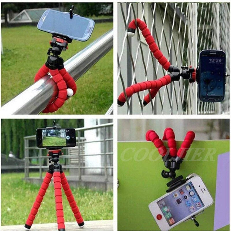 Flexible Mini Tripod With Bluetooth Remote For iPhone.  Great for TikTok