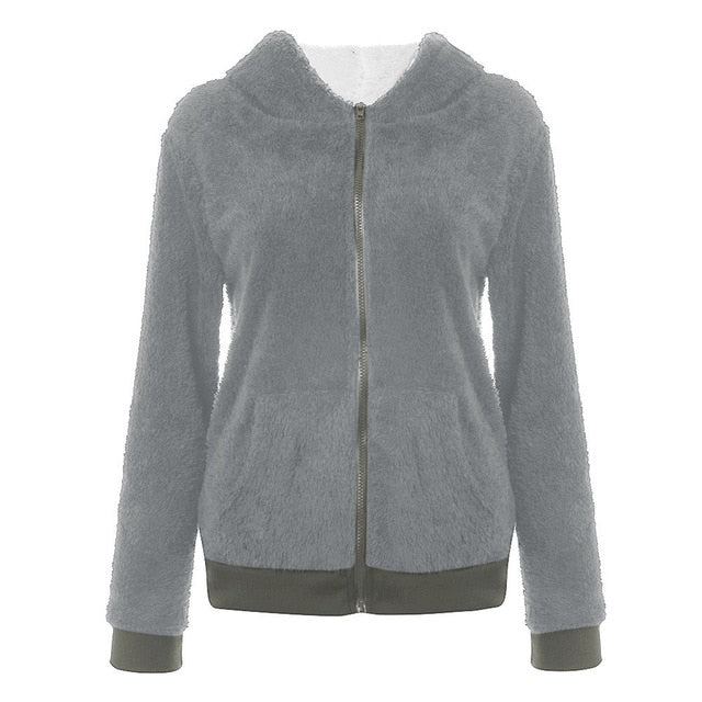 Cozy Warm Woman's Fleece Coat