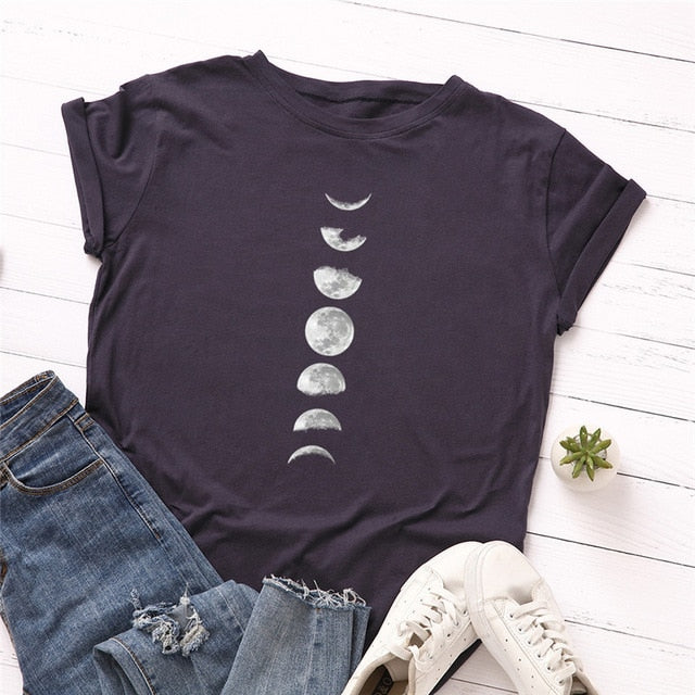 New Moon Planet Print Women's T-Shirt