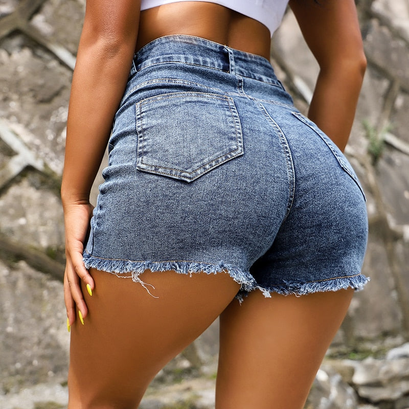 Women's High Waisted Fashion Denim Shorts