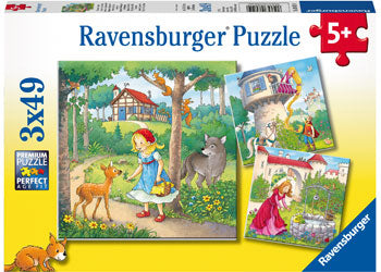 Ravensburger - Rapunzel, Riding Hood and Frog 3x49pc - margaretriverrascals