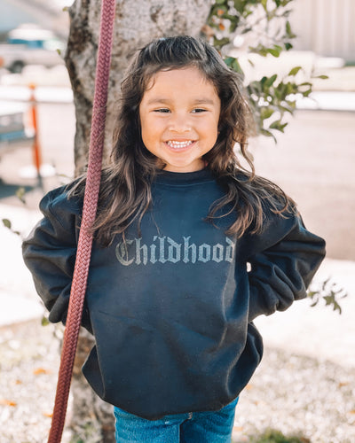 Childhood Black On Black Crewneck