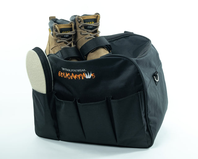 Tote Bag, perfect for hauling all your gear to your job site. Accessories and boot not included. - Cougar Paws