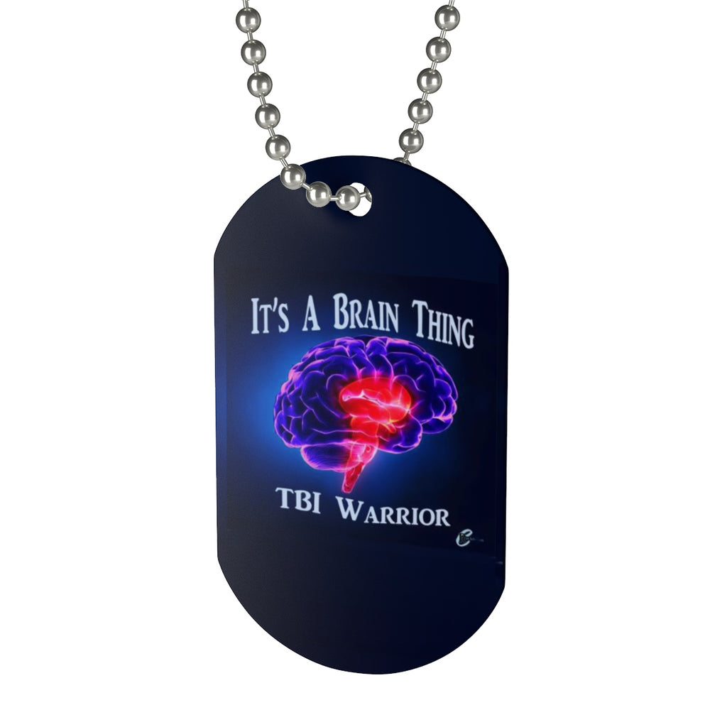 TBI Warrior Brain Bling Dog Tag