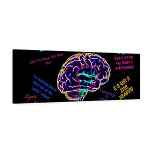 TBI Warrior Brokenness to Positive thoughts Canvas Gallery Wraps