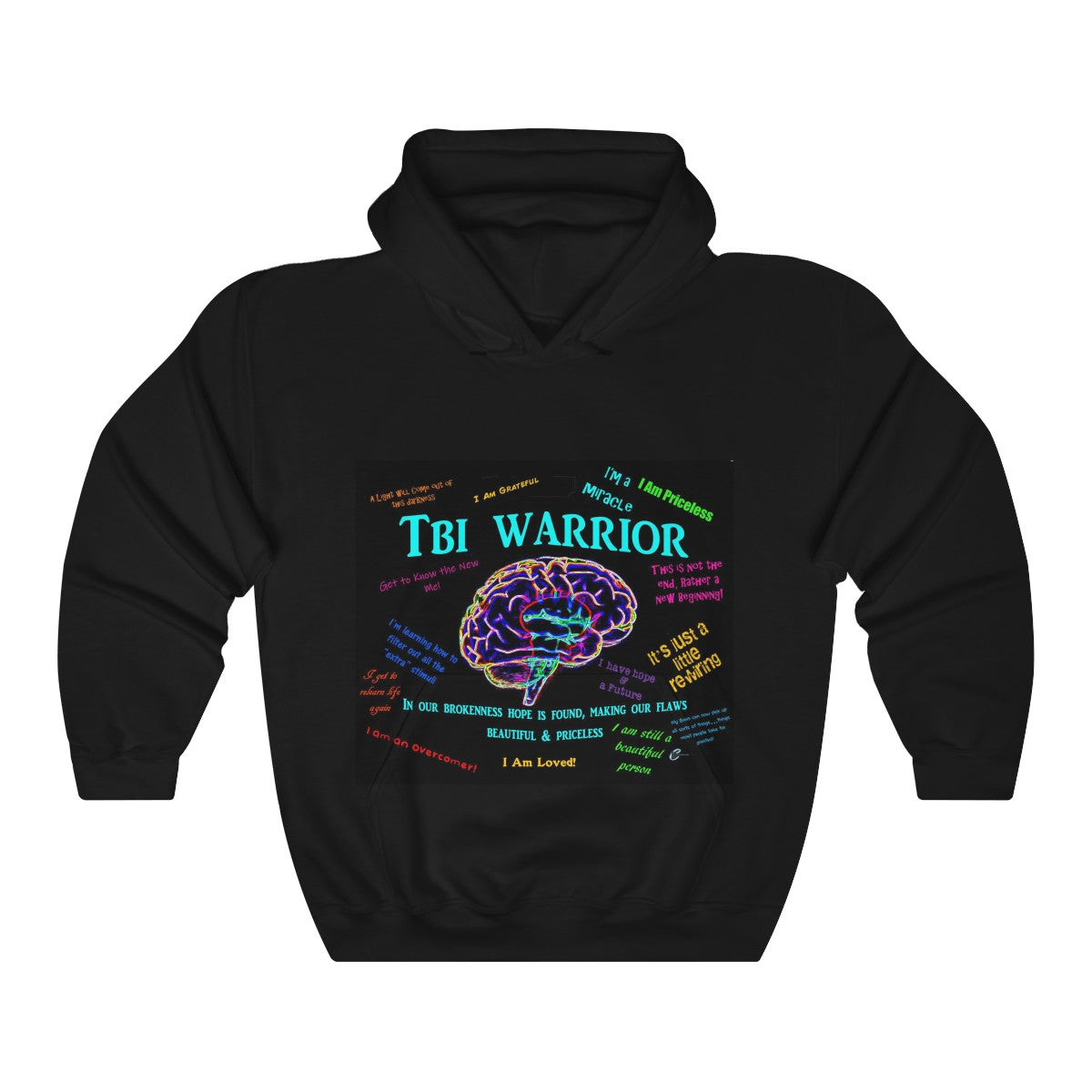 Unisex TBI Warrior  Brokenness to Hope Hooded Sweatshirt
