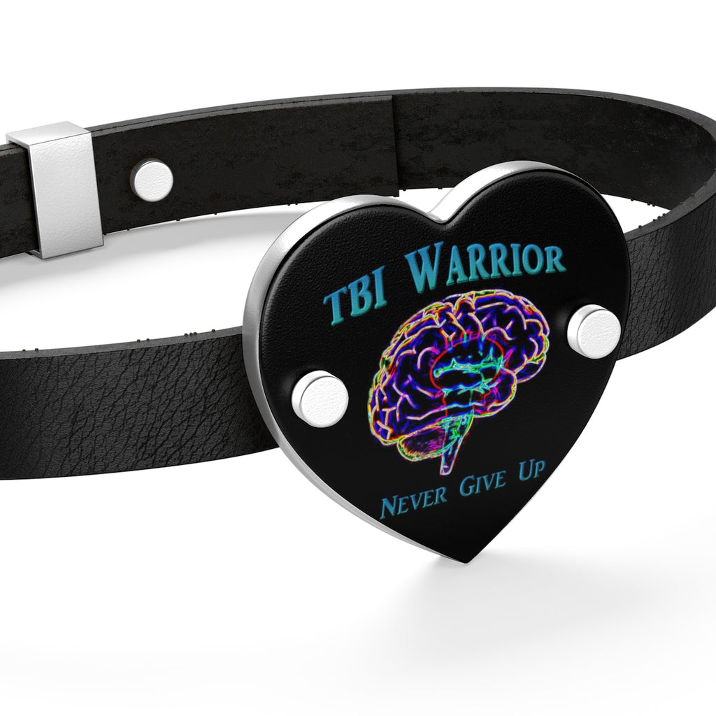 Leather TBI Warrior Bracelet