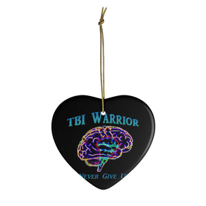 Brain Bling TBI Warrior Ceramic Ornaments