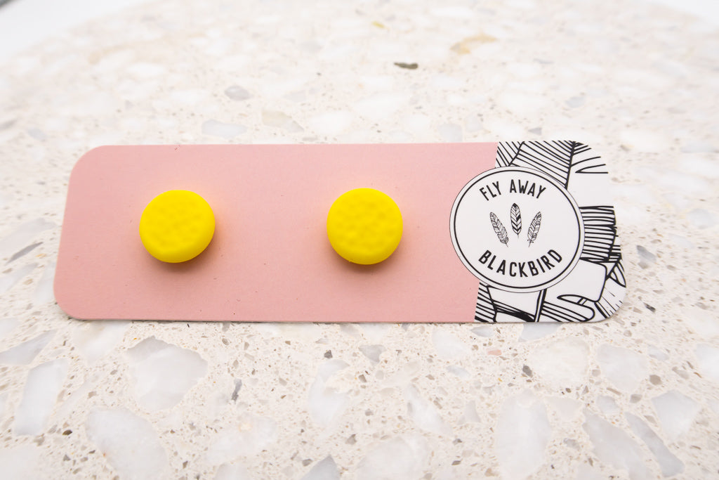 Yellow Textured Studs