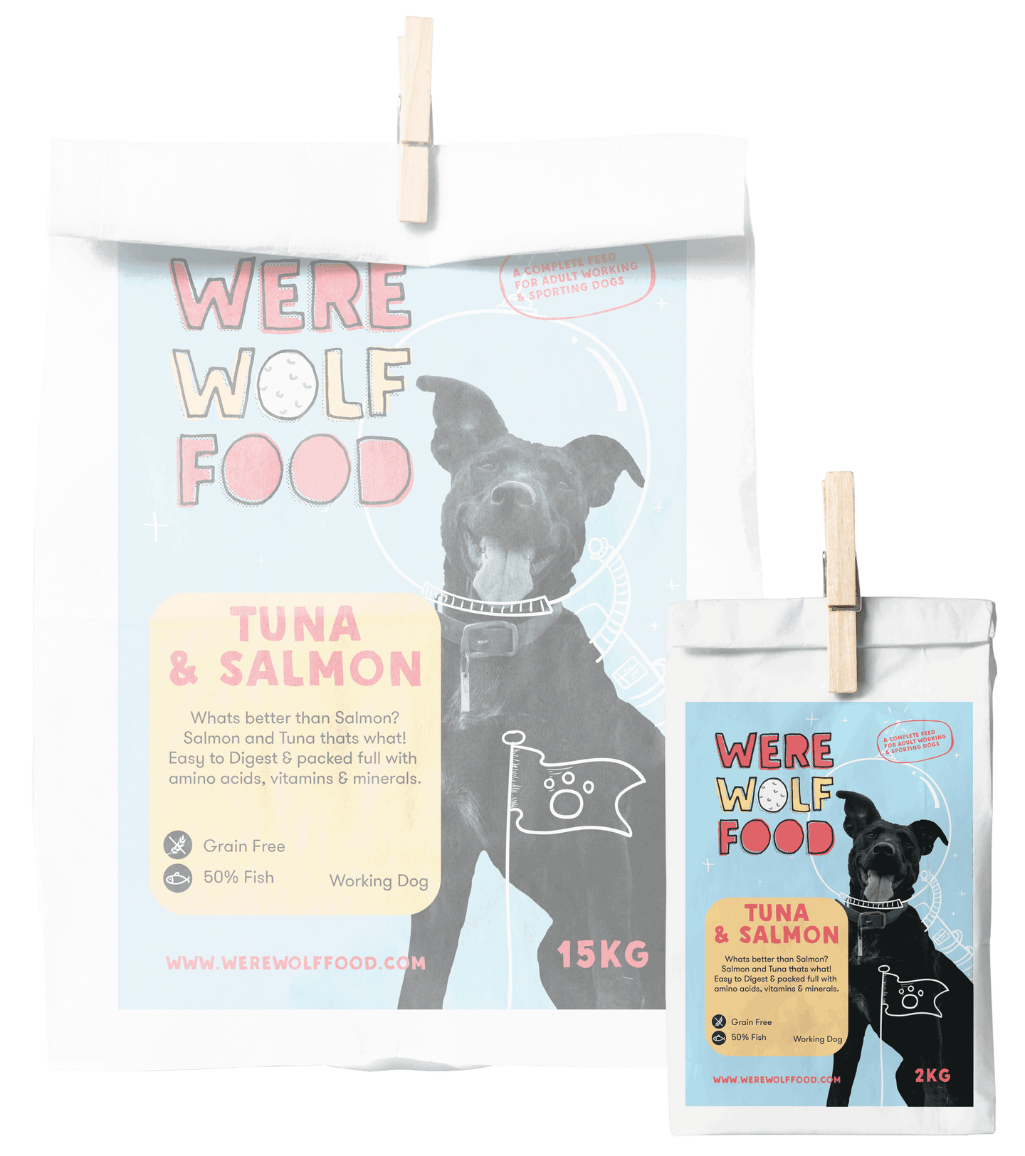 2KG - Tuna & Salmon [Grain Free] - Adult - Werewolf Food