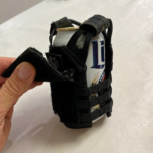 Load image into Gallery viewer, Beer Can/Bottle Tactical Vest Coozie/Koozie w/ M3 Mini Velcro Patch