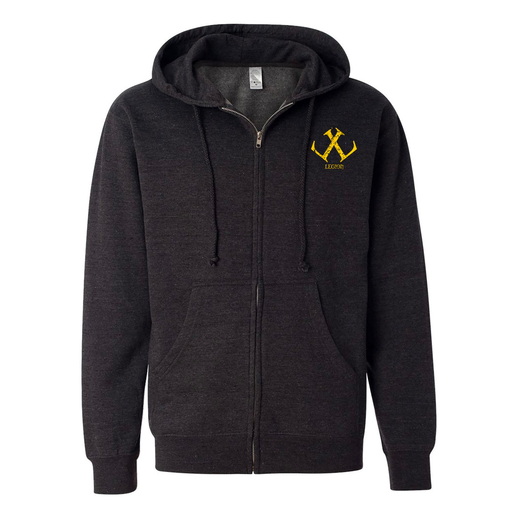 Legion / Reaper Zip Up Hoodie (Charcoal Heather / #ffca00) ITC SS4500Z