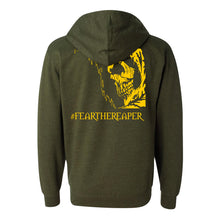 Load image into Gallery viewer, Legion / Reaper Zip Up Hoodie (Army Heather / #ffca00) ITC SS4500Z