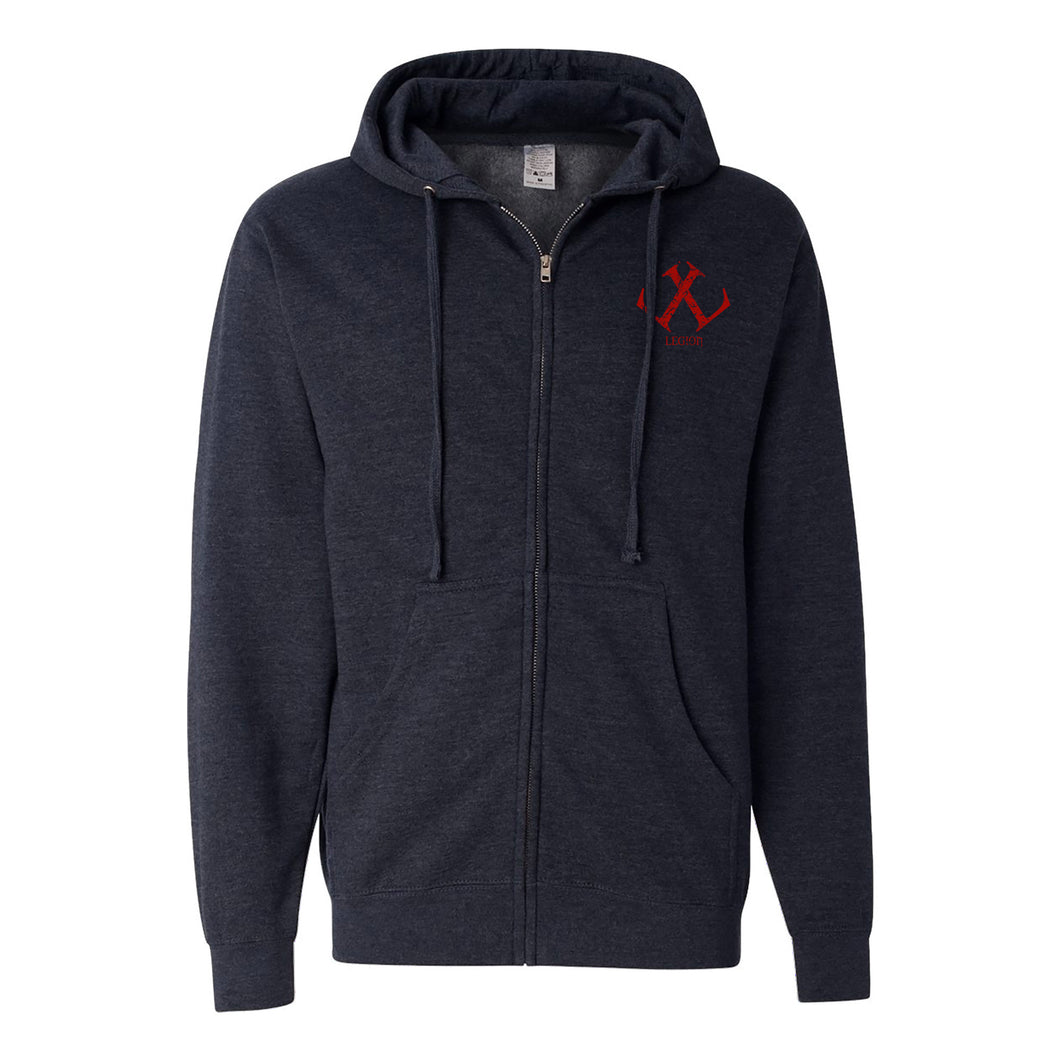 Legion / Reaper Zip Up Hoodie (Classic Navy / #9c0e10) ITC SS4500Z