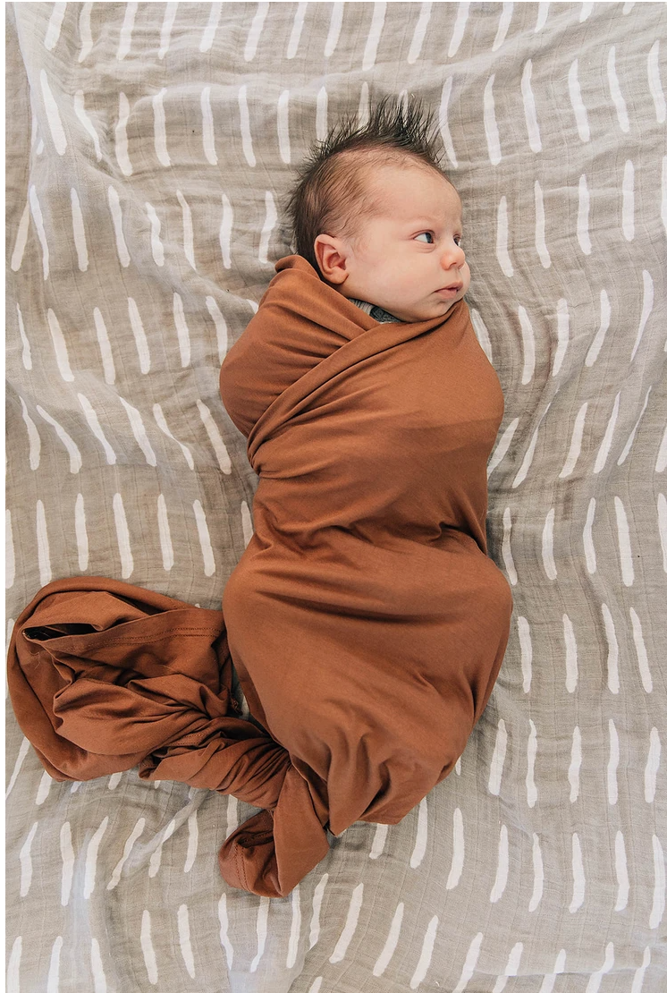 MB - Rust Stretch Swaddle