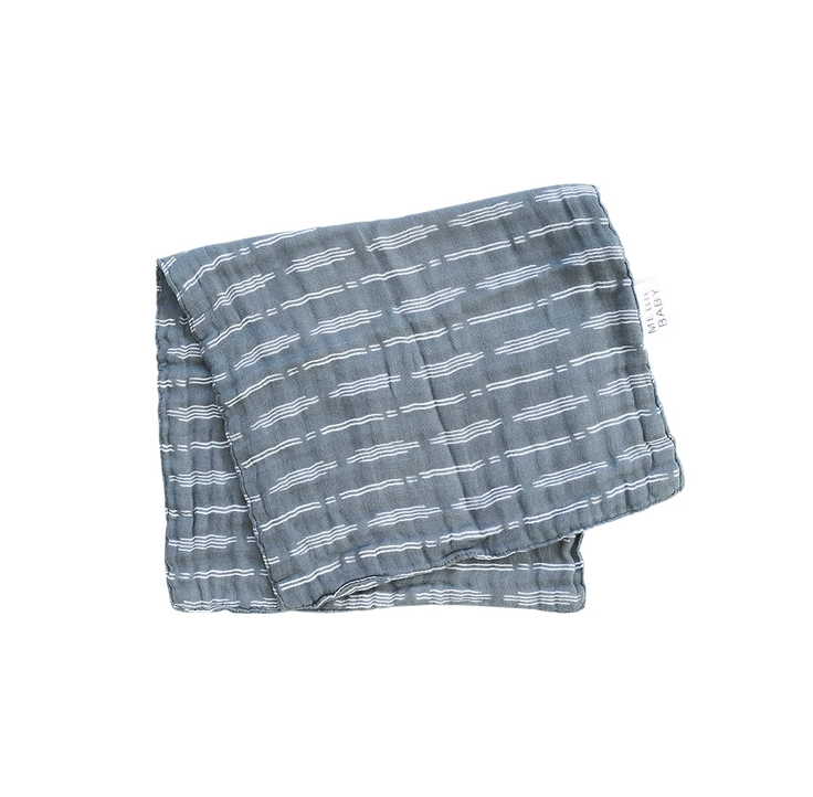 MB - Dusty Blue Horizon Burp Cloth