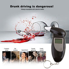 Load image into Gallery viewer, Keychain Breathalyzer With LCD Screen