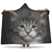 Load image into Gallery viewer, Hooded Blanket - Small blue