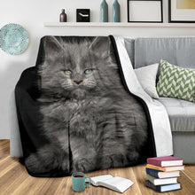Load image into Gallery viewer, Premium Blanket - Blue Kitty