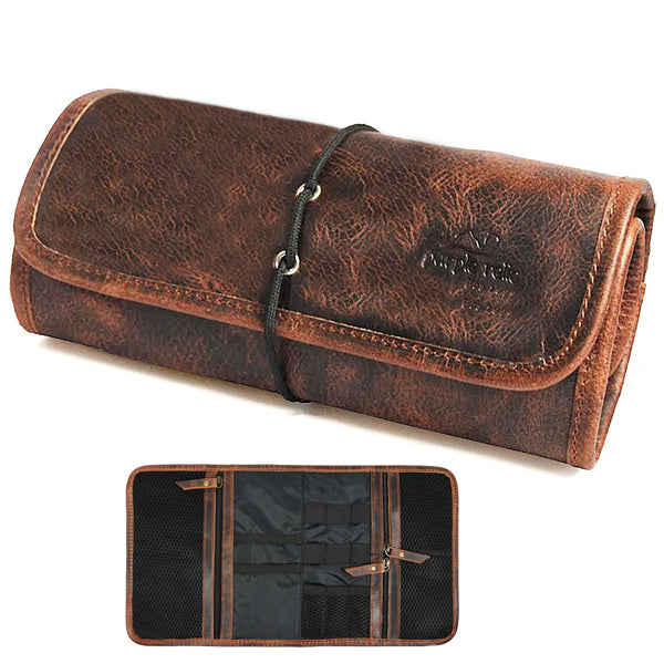 Leather Travel Electronics and Cable Organizer