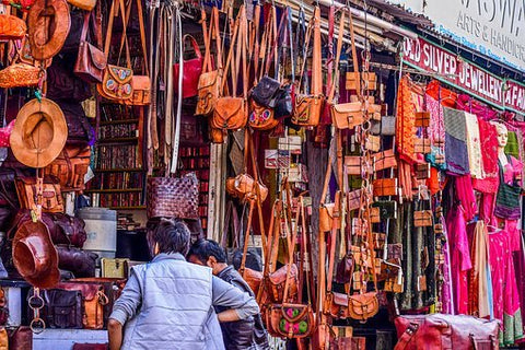 Indian leather handicrafts store