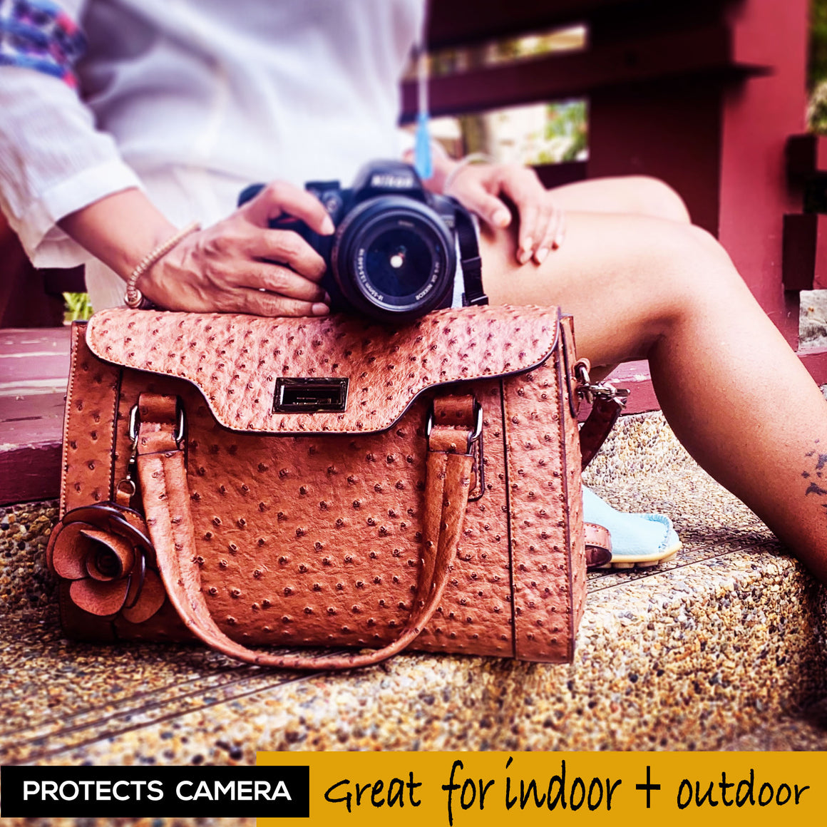 Ostrich Camera Bag for Women