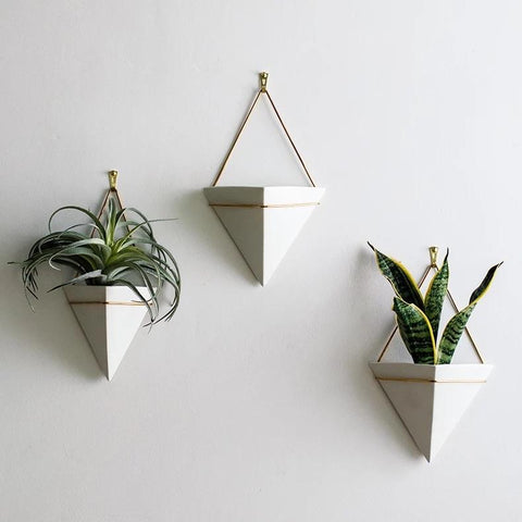 Triangle Porcelain Wall Pot