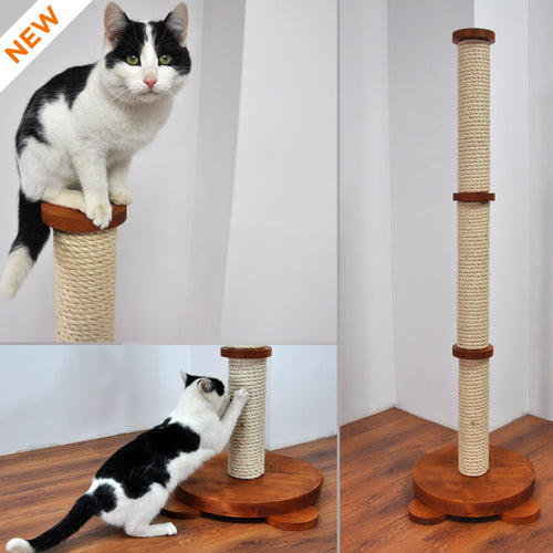 Modular Cat Scratcher Finished with Oil/Wax in Teak Color