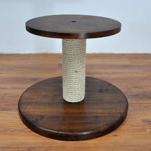 Load image into Gallery viewer, Cat Tree - Basic 1M. Modular Cat Tree Finished with Oil/Wax in Deep Brown
