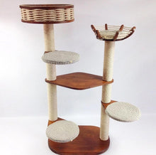 Load image into Gallery viewer, 2-Tower 5-Seat Cat Tree