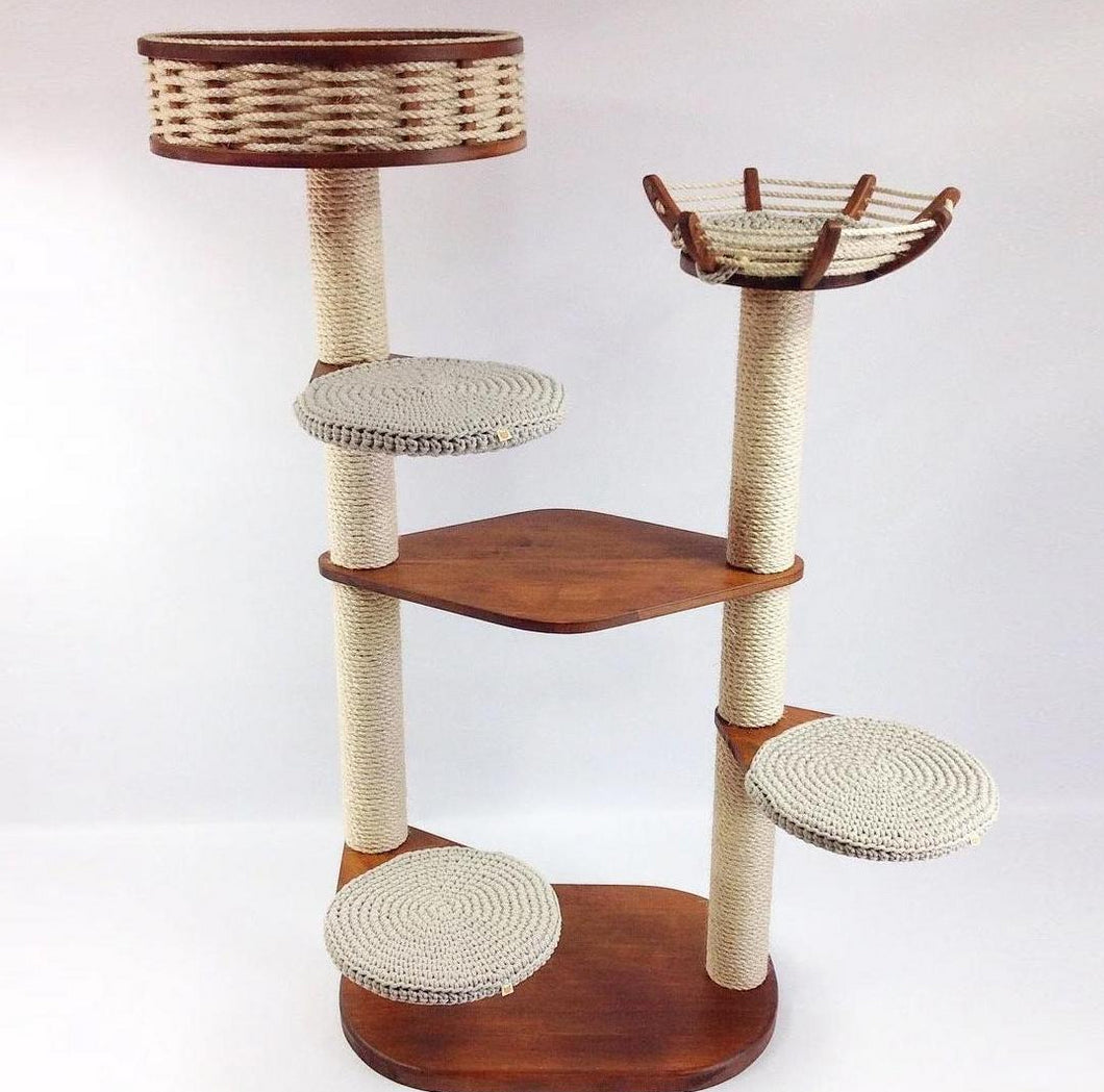 2-Tower 5-Seat Cat Tree