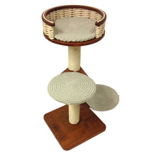 Load image into Gallery viewer, Single Tower Cat Tree with Partially Open Sisal Basket