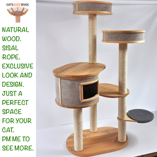 Giant 3-Tower 6-Seat Cat Tree