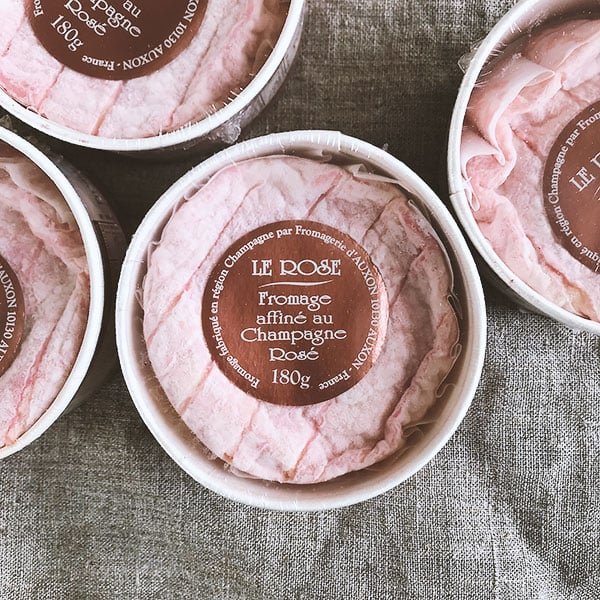Fromage affine au Champagne Rose
