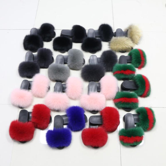 Custom Your Own Fur Slippers