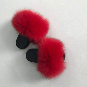 Fur Slippers-Strawberry