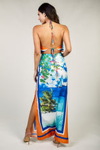 "Load image into Gallery viewer, ""Hawaiian"" Ocean Breeze Tropical Island Maxi Dress"